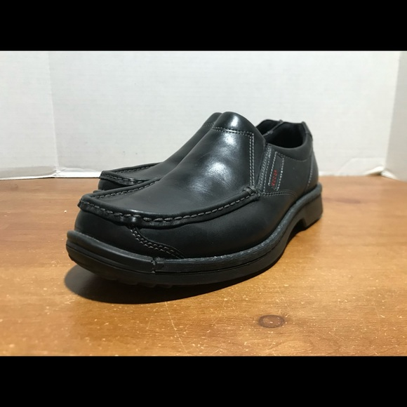 Ecco Leather slip on Dress shoes black size 10.5